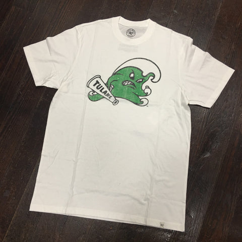 Tulane Angry Wave Scrum Tee - White