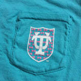 Tulane Bowtie Comfort Colors Pocket Tee - Campus Connection - Campus Connection - 7