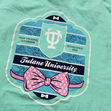 Tulane Bowtie Comfort Colors Pocket Tee - Campus Connection - Campus Connection - 4