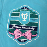 Tulane Bowtie Comfort Colors Pocket Tee - Campus Connection - Campus Connection - 3
