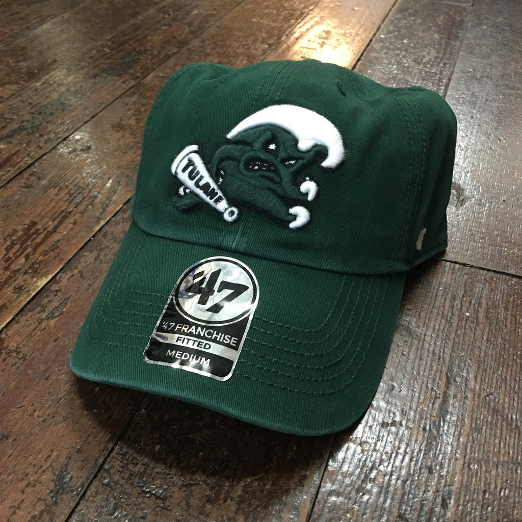 Tulane Angry Wave Hat - Green - '47 Brand - Campus Connection