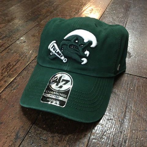 Tulane Angry Wave Fitted Hat - Green