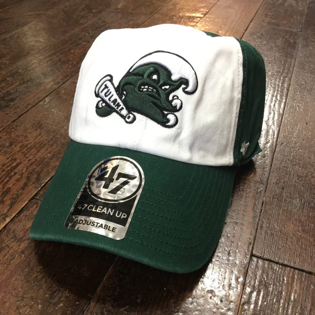 Tulane Angry Wave Hat - White/Green - '47 Brand - Campus Connection