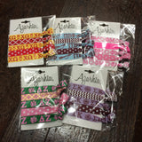 Sorority Hair Tie Pack - Azarhia - Campus Connection - 1