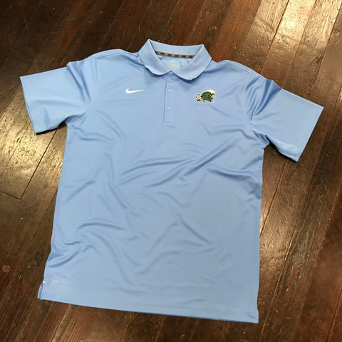 Tulane Nike Dri Fit Varsity Polo - Valor Blue
