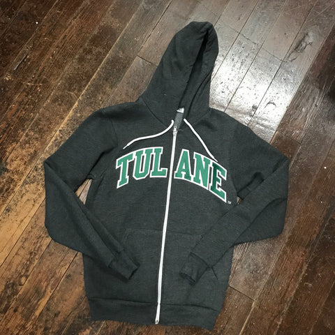 Tulane American Apparel Full Zip Sweatshirt