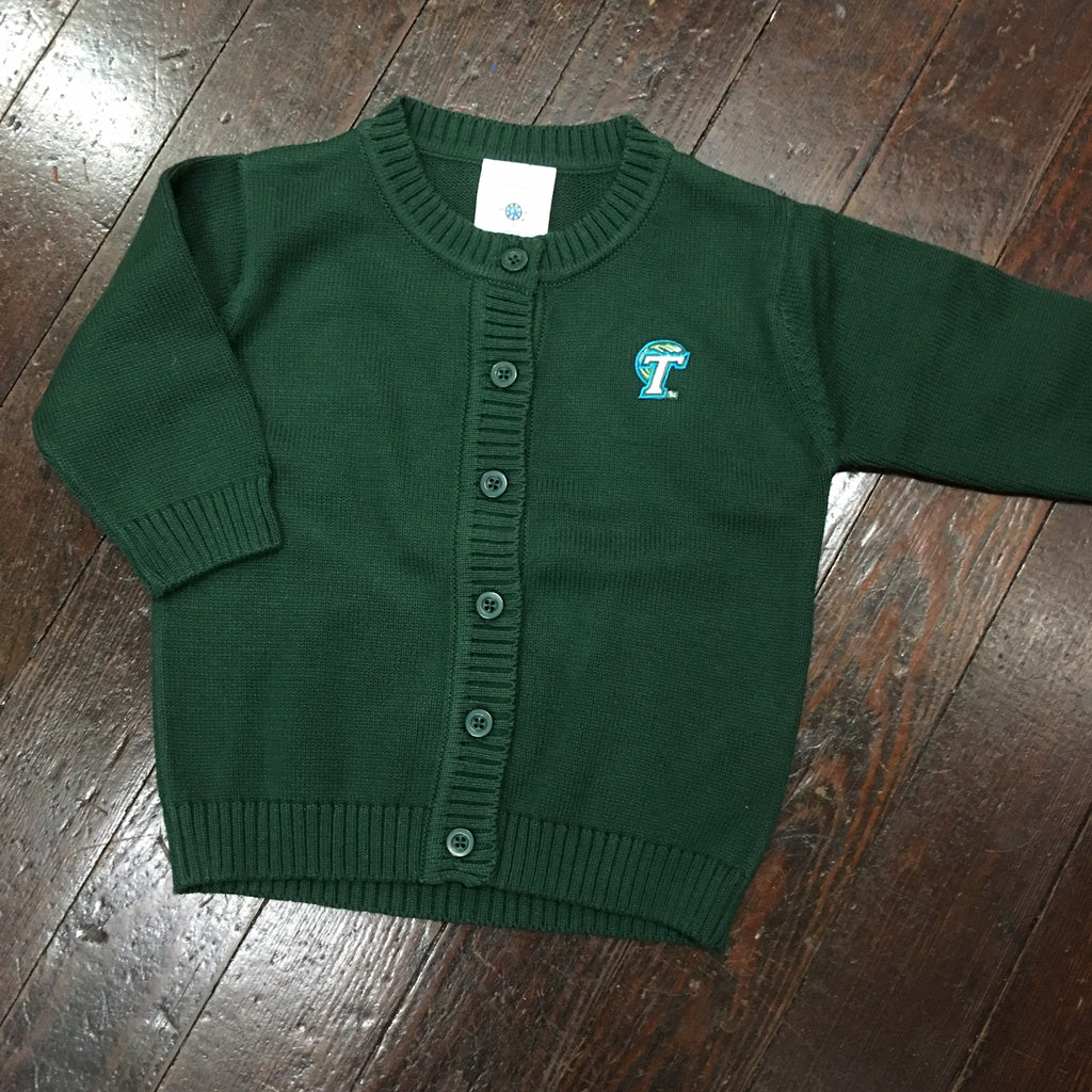 Tulane Toddler/Youth Knit Cardigan Sweater - Creative Knitwear - Campus Connection - 1