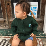 Tulane Toddler/Youth Knit Cardigan Sweater - Creative Knitwear - Campus Connection - 2