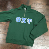 Vinyl-Letter Quarter-Zip Sweatshirt - Campus Connection - Campus Connection - 1