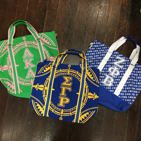 Sorority Canvas Tote Bag