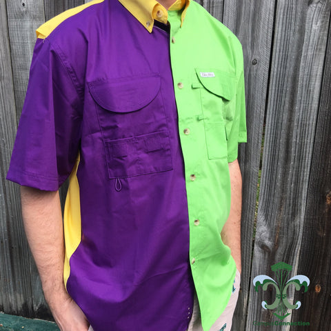 Mardi Gras Fishing Shirt