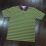 Mardi Gras Narrow Stripe Rugby Short Sleeve Polo - Kaplin - Campus Connection