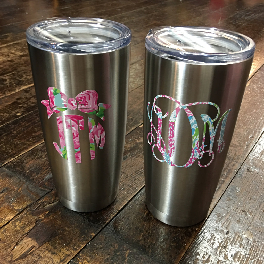 Lilly Pulitzer Monogrammed YETI Rambler Tumbler 20 oz. REPLICA - Viking - Campus Connection - 1