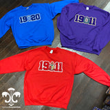 Founding Year Chenille Crewneck Sweatshirt