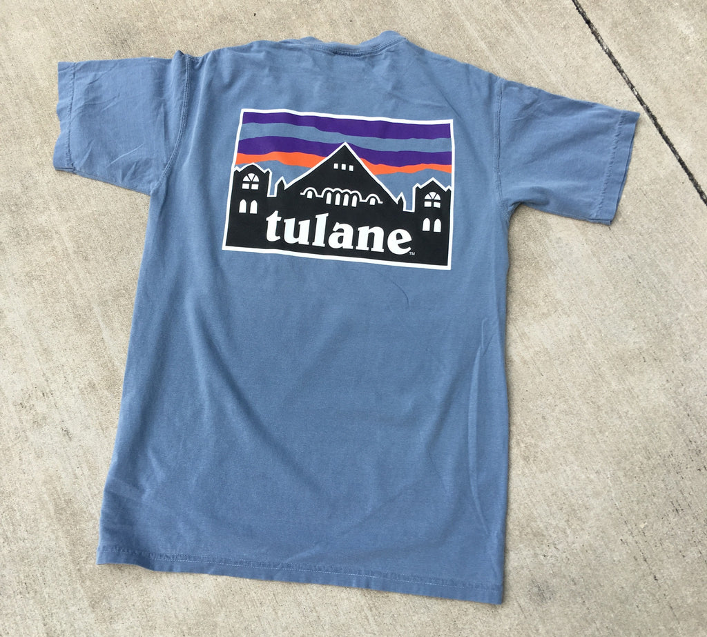 Tulane Patagonia Comfort Colors Pocket Tee - Campus Connection - Campus Connection - 1