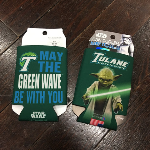 Tulane Yoda Star Wars Koozie - Alternate