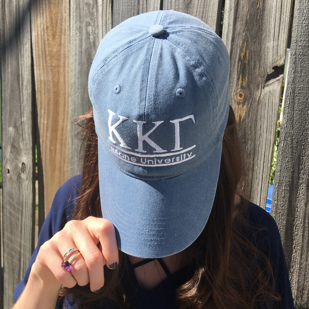 Sorority Comfort Colors Embroidered 2-Bar Hat