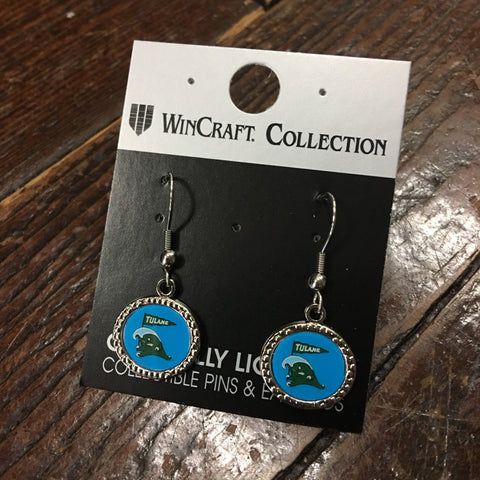 Tulane Angry Wave Earrings