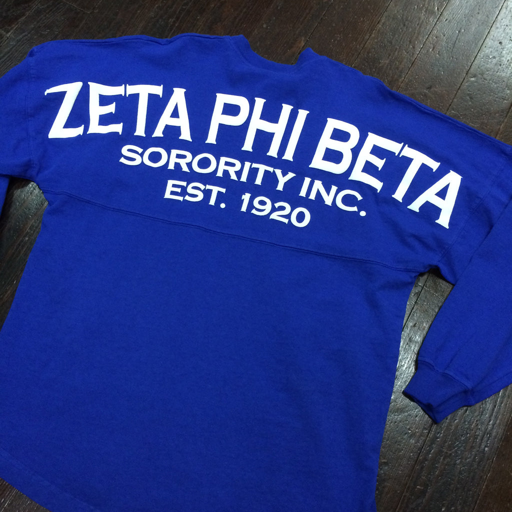 Zeta Phi Beta Spirit Jersey - Spirit Football Jersey - Campus Connection
