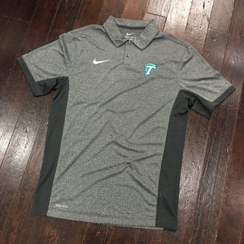 Tulane Nike Dri Fit Victory Block Polo - Anthracite Heather