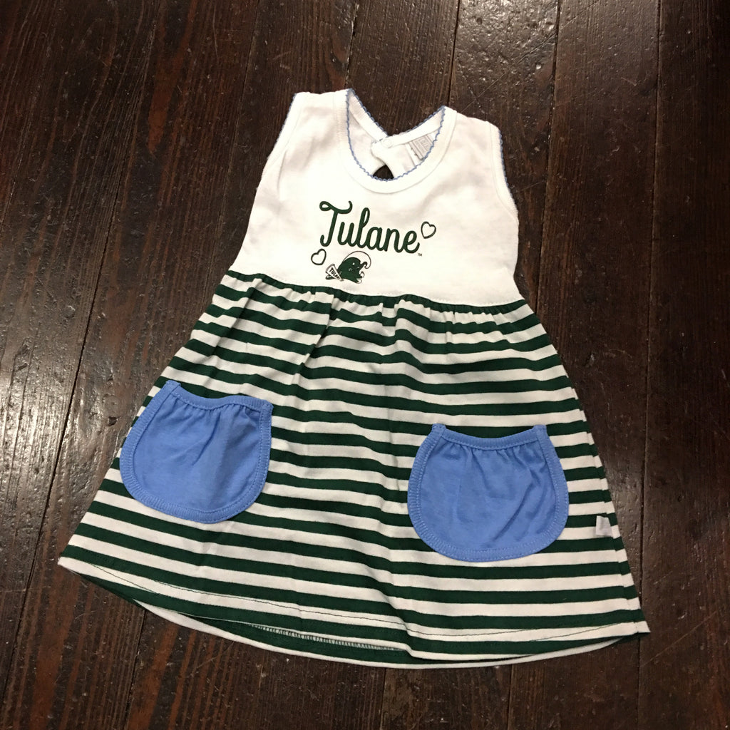 Tulane Angry Wave Girls Striped Skirt Dress - Third Street - Campus Connection