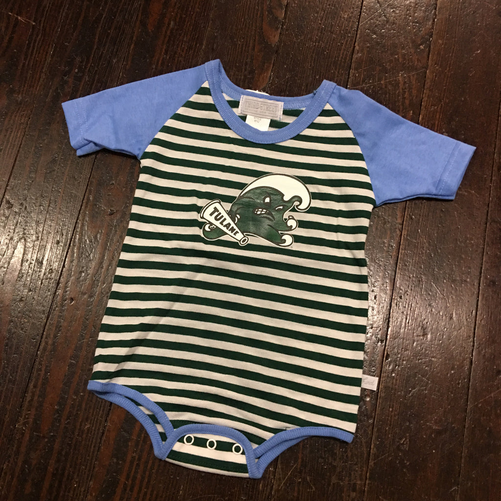 Tulane Angry Wave Infant Bodysuit - Third Street - Campus Connection