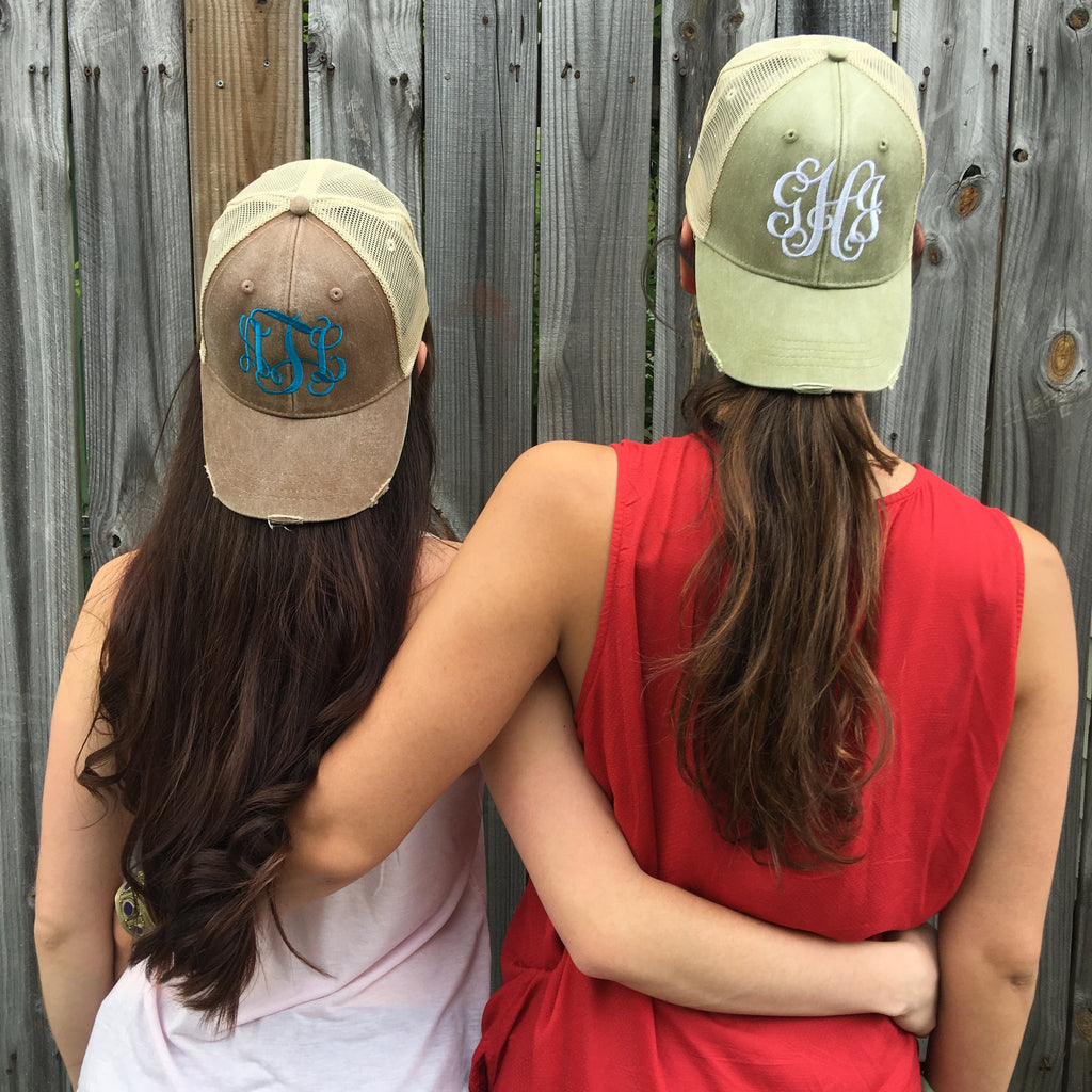 Monogrammed Trucker Hat - Campus Connection - Campus Connection - 1