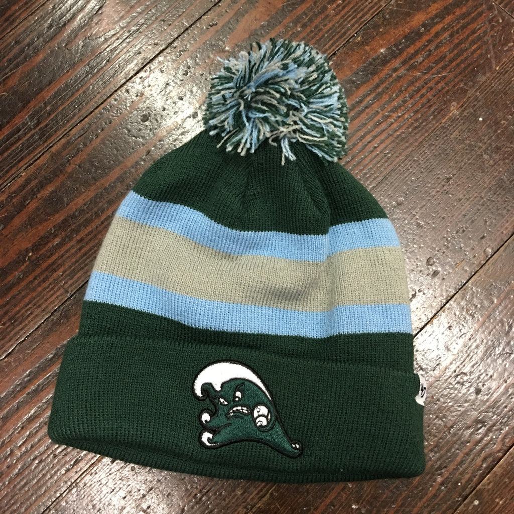 Tulane Angry Wave Knit Pom Pom Beanie - '47 Brand - Campus Connection