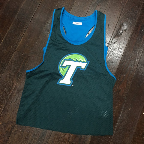 Tulane Mesh Tank with Sports Bra