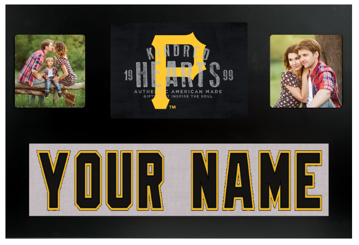 Pittsburgh Pirates MLB Jersey Nameplate Custom Picture Frame