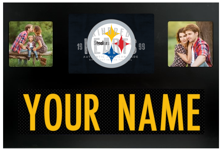 Pittsburgh Steelers NFL Jersey Nameplate Custom Picture Frame
