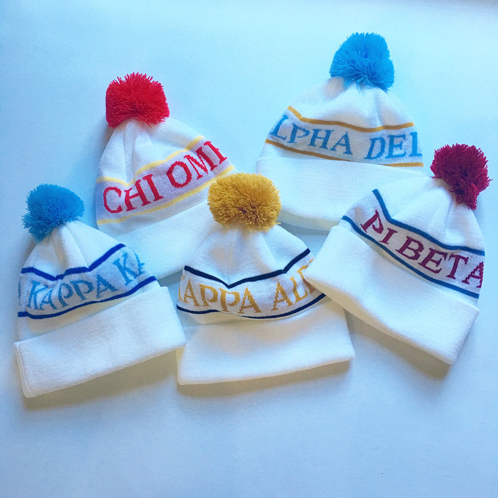 Sorority Knit Pom Pom Beanie