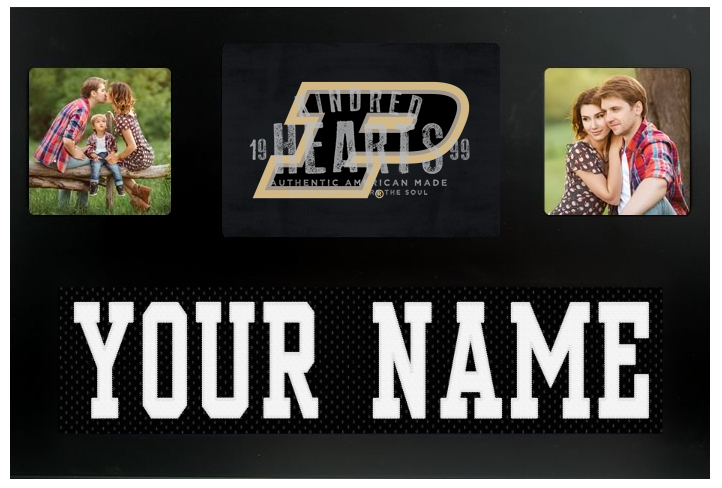 Purdue Boilermakers NCAA Jersey Nameplate Custom Picture Frame