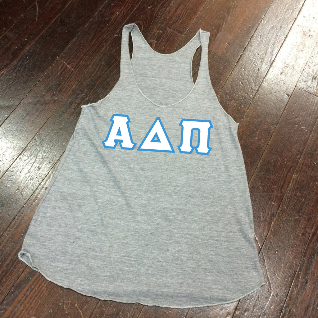 Sewn-Letter American Apparel Racerback - Campus Connection - Campus Connection - 1