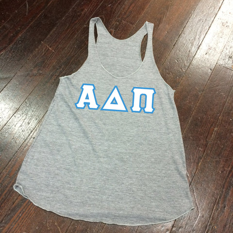 Sewn-Letter American Apparel Racerback