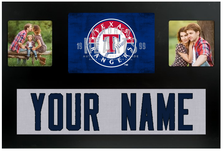 Texas Rangers MLB Jersey Nameplate Custom Picture Frame