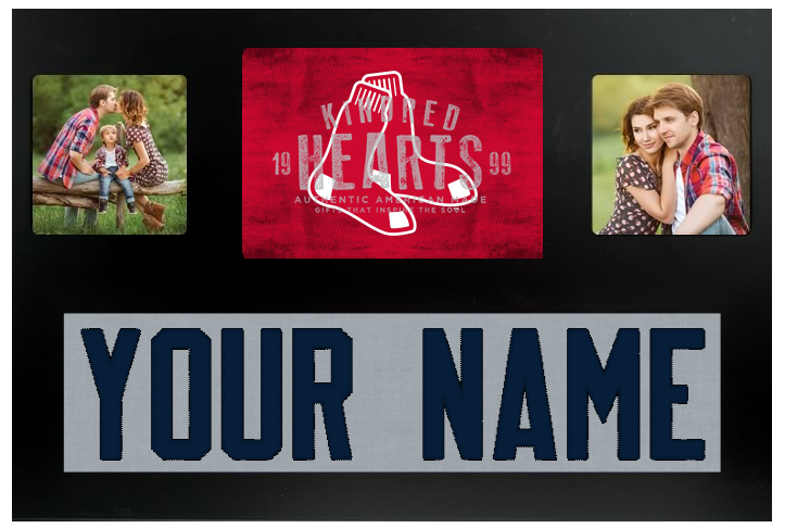 Boston Red Sox MLB Jersey Nameplate Custom Picture Frame – Campus ...