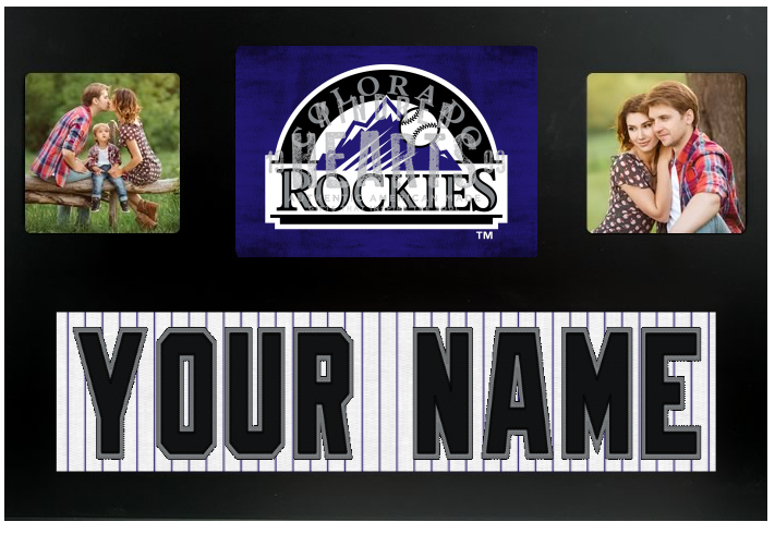 Colorado Rockies MLB Jersey Nameplate Custom Picture Frame