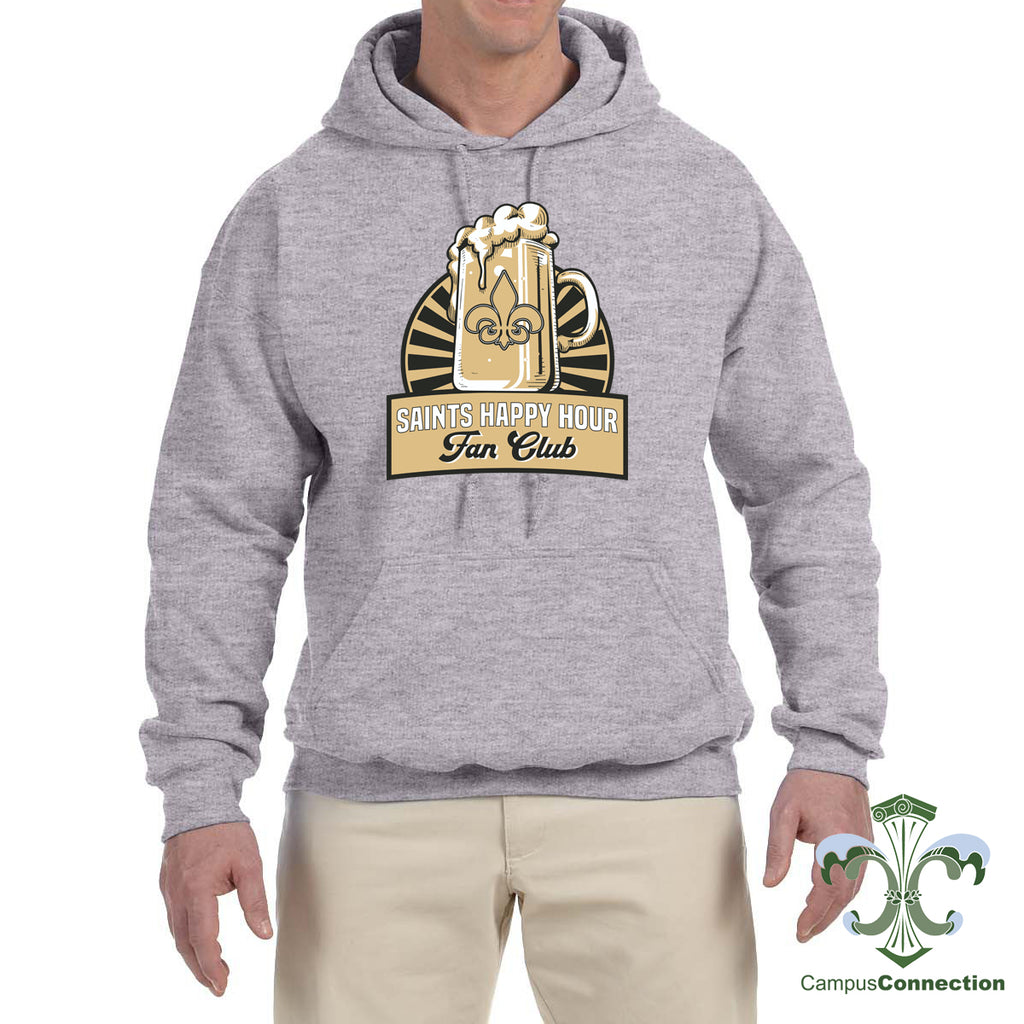 Saints Happy Hour Hooded Sweatshirt - Gray