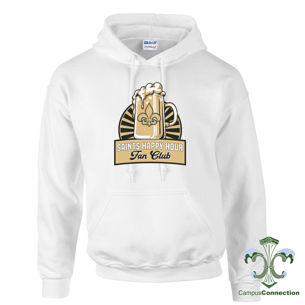 Saints Happy Hour Hooded Sweatshirt - White