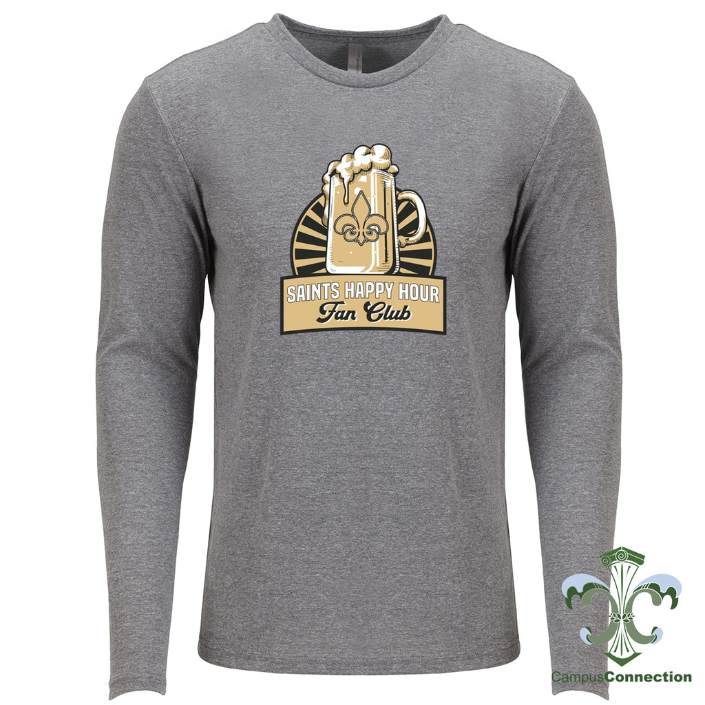 Saints Happy Hour Triblend Long Sleeve - Gray