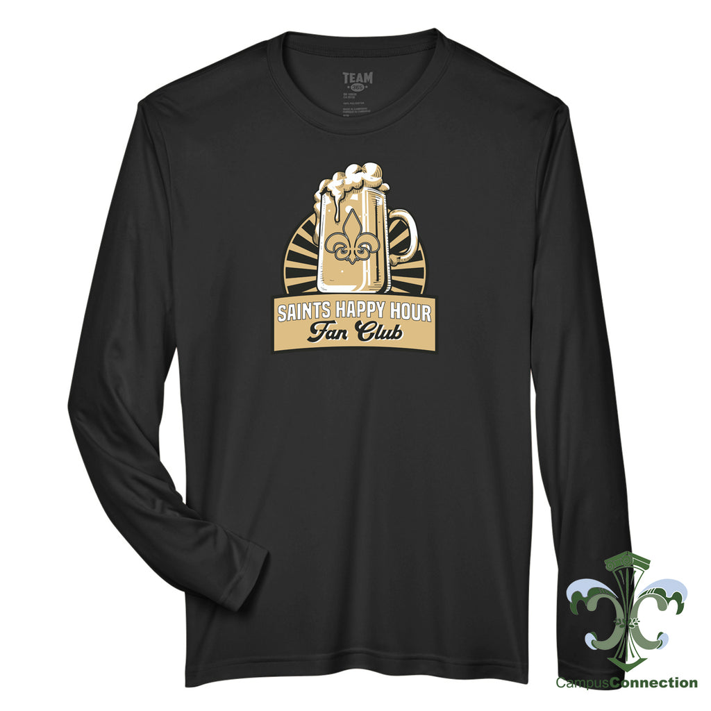 Saints Happy Hour Performance Long Sleeve - Black