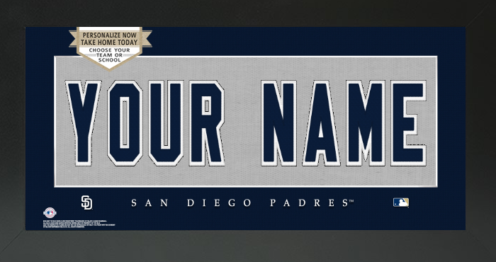 San Diego Padres MLB Jersey Nameplate Custom Framed Sign