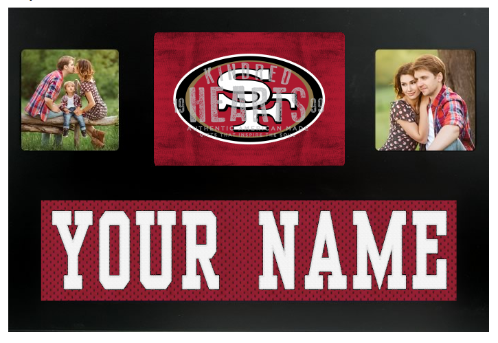 San Francisco 49ers NFL Jersey Nameplate Custom Picture Frame
