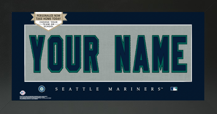 Seattle Mariners MLB Jersey Nameplate Custom Framed Sign