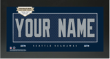 Seattle Seahawks NFL Jersey Nameplate Custom Framed Sign
