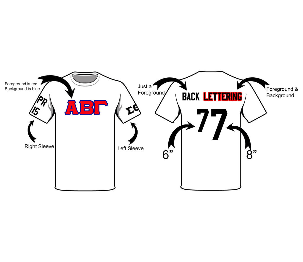Sorority Fraternity Greek Letter Jersey Line Shirt Campus Connection
