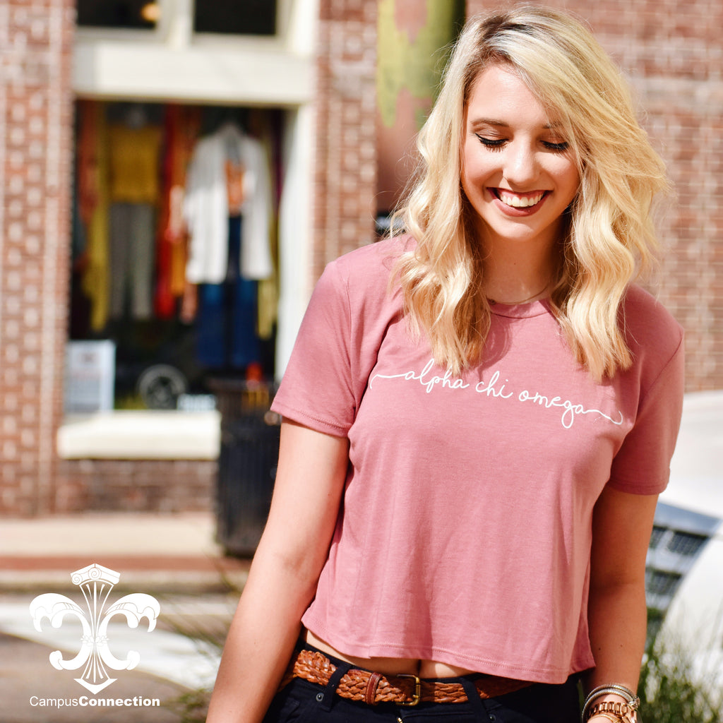 Sorority Shoreline Bella Flowy Cropped Tee