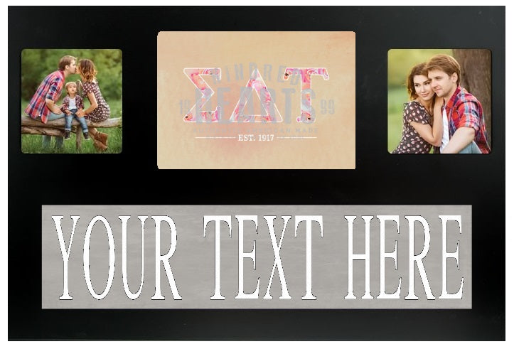 Sigma Delta Tau Letters Custom Picture Frame