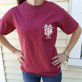 Big/Little/GBig/GGBig Sorority Bow Monogram Comfort Colors Frocket - Campus Connection - Campus Connection - 2